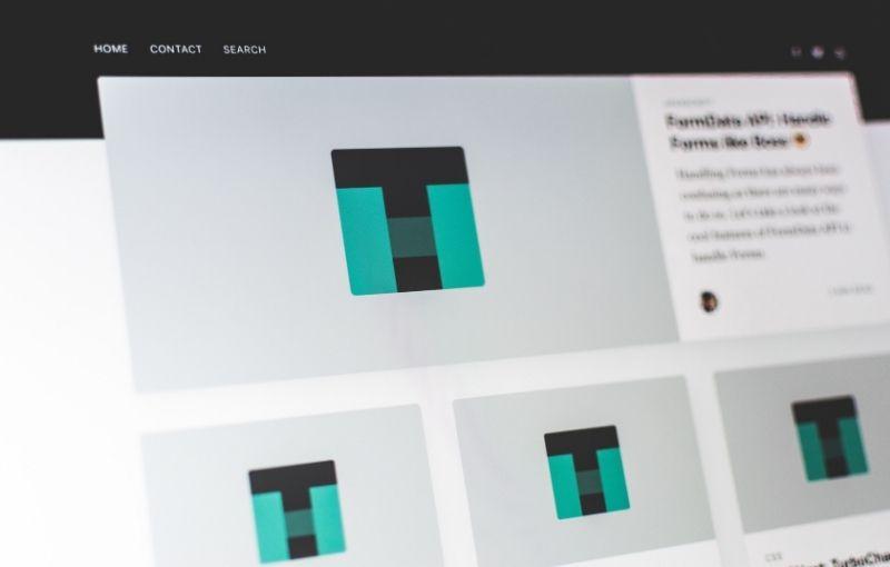 copywriting on a website design