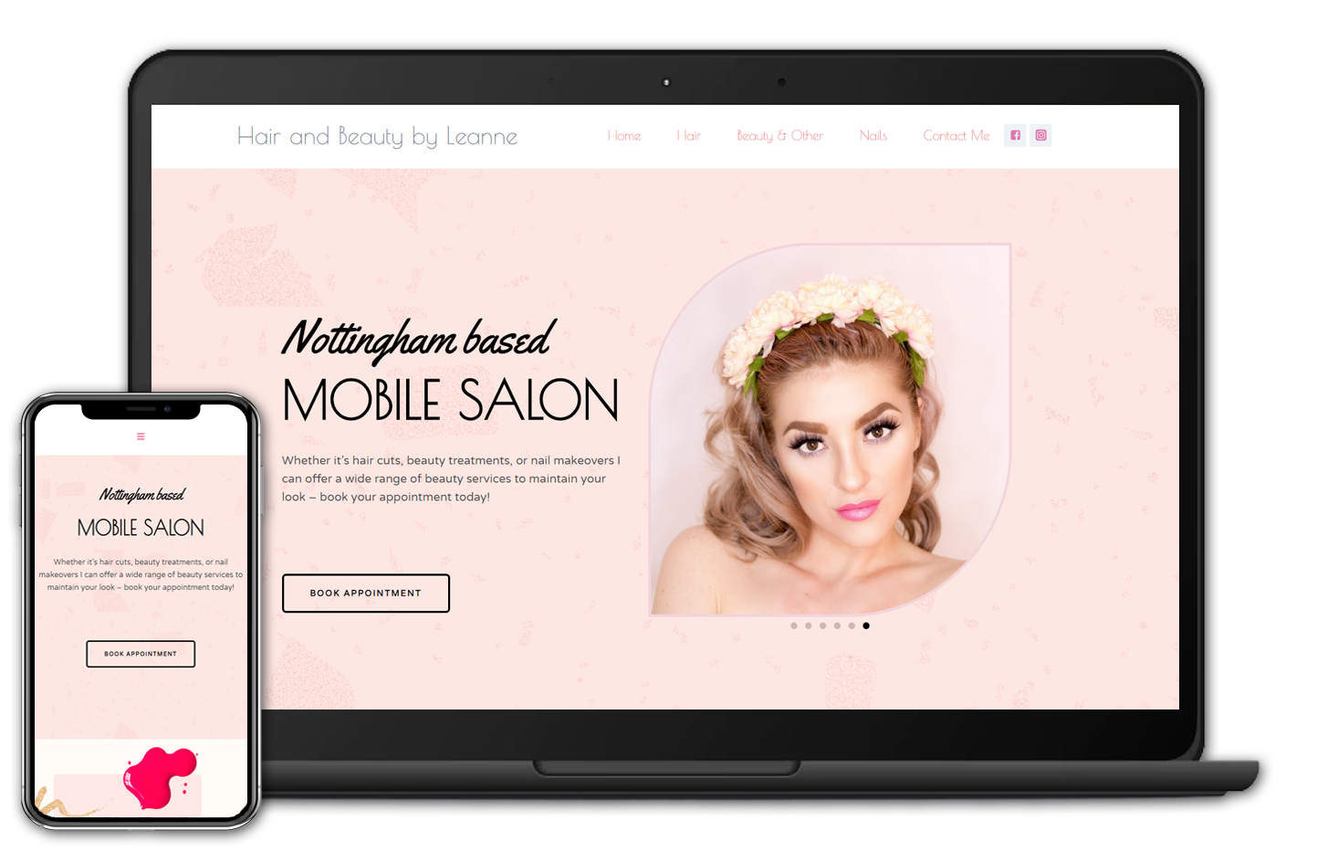 Website Design Case Study - hair and beauty