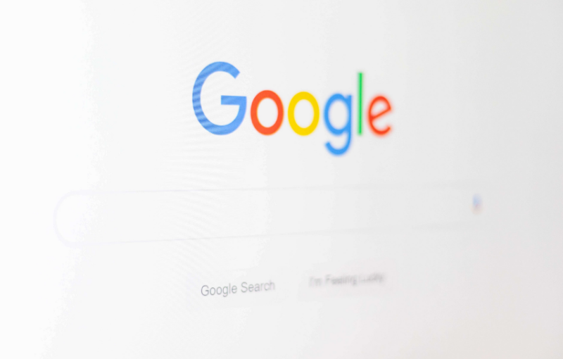 Google search home screen