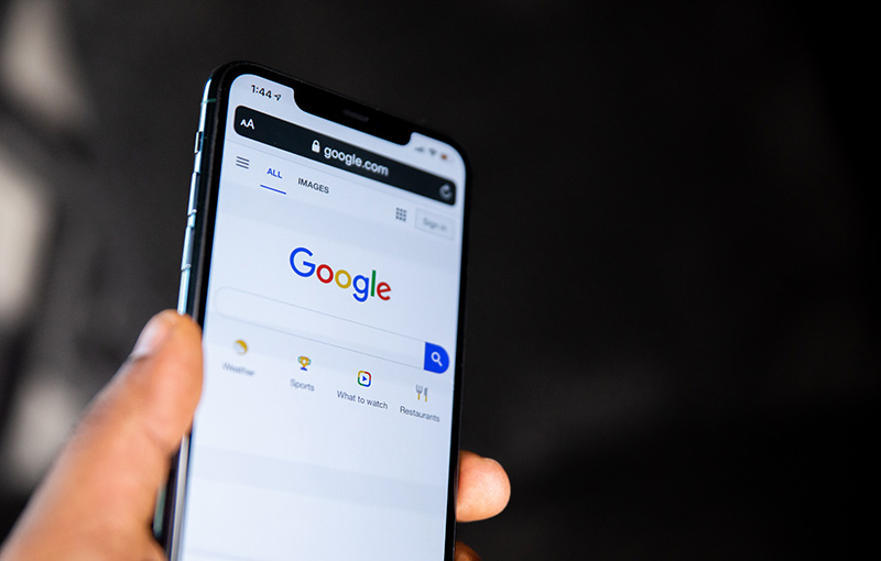 google search ads on a mobile phone